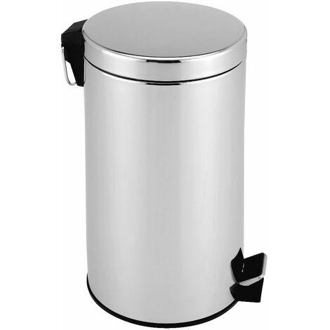 Poubelle à pédale corbeille 3L/5L/12L/20L - Cuisine et salle de bain acier Inox