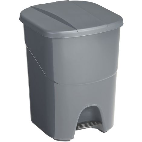 Poubelle à pédale double compartiment 40 litres - Anthracite