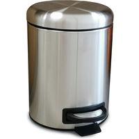 poubelle à pédale inox 5l - 959380b - kitchen move