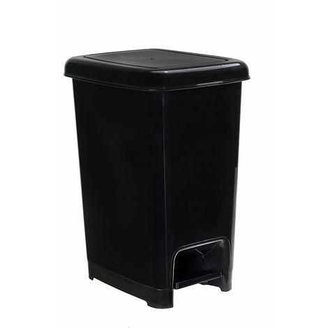 Poubelle à pédale   polypropylène   Noir   10 litres   200x265x345   Slim   18 pièces   medial - Noir