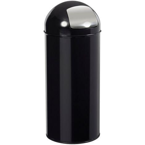 Poubelle à trappe - 45 l - Noir graphite - TUBAG | Rossignol