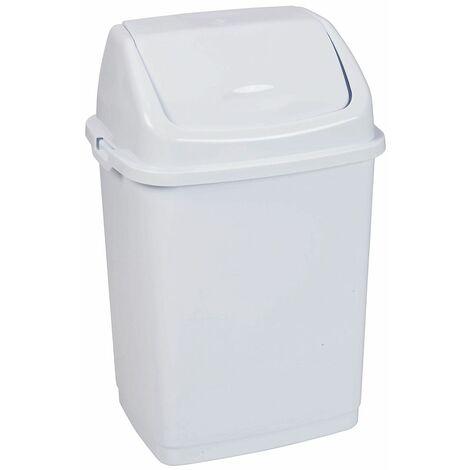 Poubelle à trappe basculante   polypropylène   Blanc   50 litres   440x330x680   Rif Basic   6 pièces   medial - Blanc