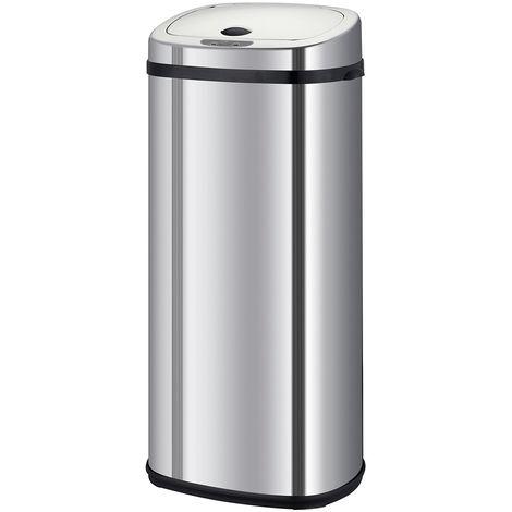 poubelle automatique 42l inox - bat-42ls02a ss - kitchen move