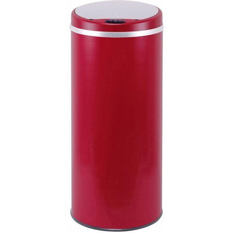 poubelle automatique 42l rouge mat - bat-42li red - kitchen move