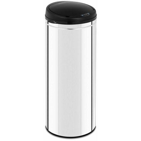 Poubelle automatique 50 litres avec récipient intérieur acier inoxydable