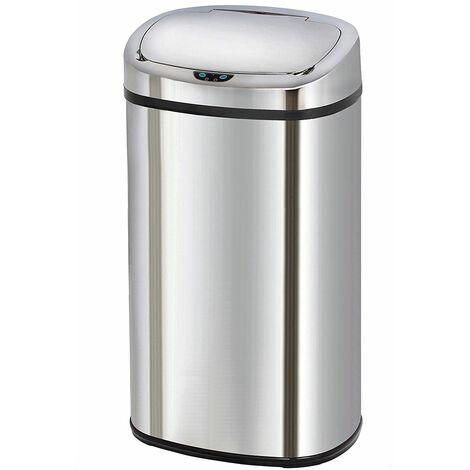 poubelle automatique 68l inox - bat-68ls06a ss - kitchen move