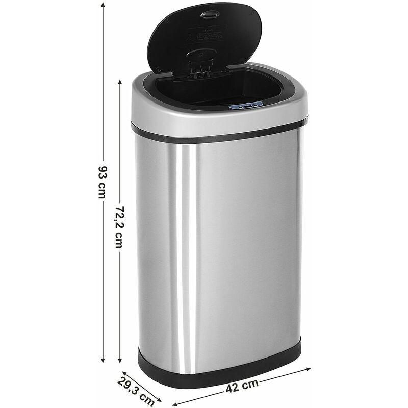 super promotions en gros prix d'usine Poubelle automatique avec capteur infrarouge avec support de sac Anti-odeur  Inox Volume 50L Argent LTB92NG