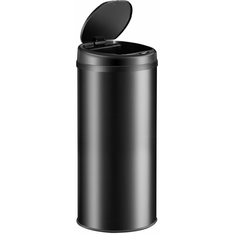 Deuba - Poubelle de cuisine automatique ronde 30/40/56 litres avec support de sac Capteur de mouvement Recyclage déchets maison Noir - 40L