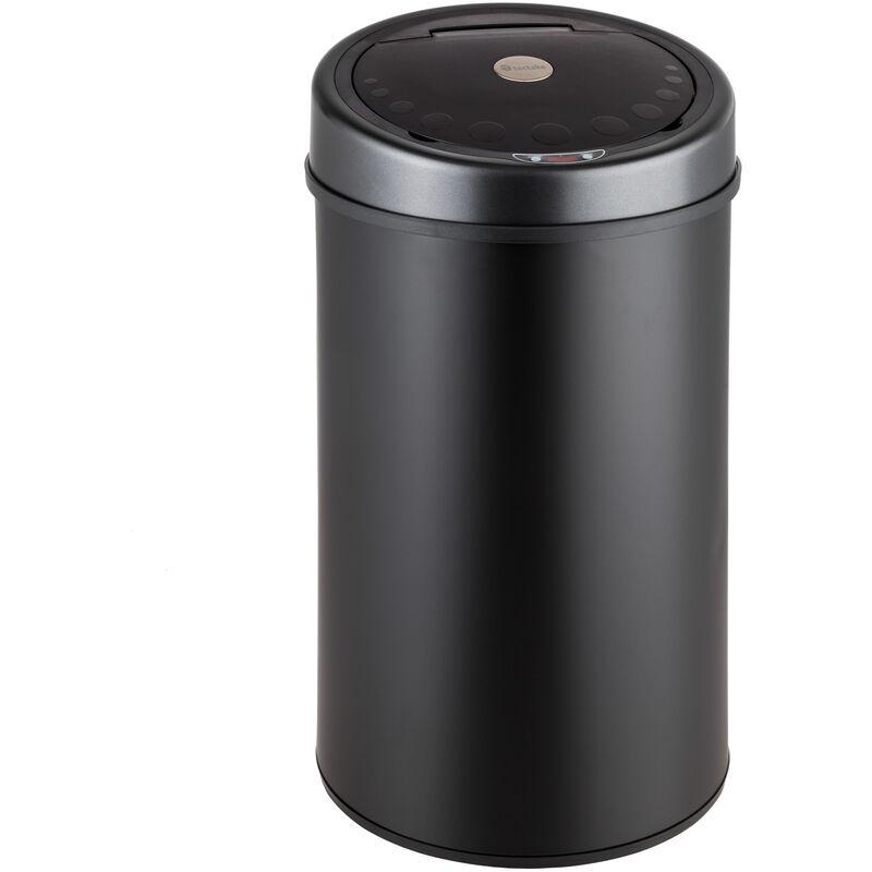 Poubelle de Cuisine Automatique 50L Design en Acier Noir