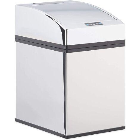 Poubelle automatique design capteur couvercle seau intérieur inox 5 litres