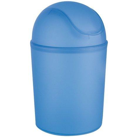 Poubelle avec couvercle à bascule bleu
