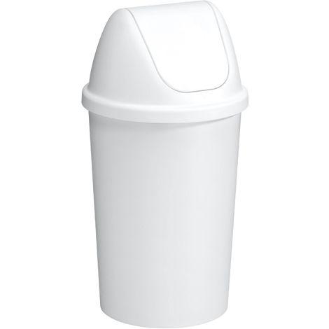 Poubelle avec couvercle Swing 45 litres Blanc