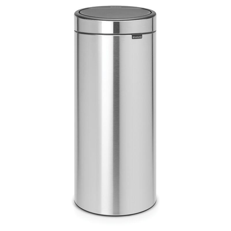 Poubelle 'Touch Bin New' Matt steel 30 L - Brabantia