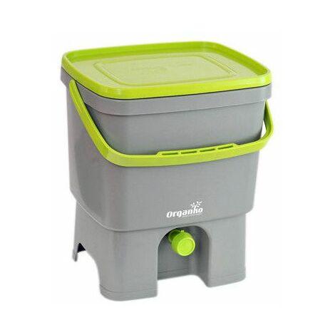 Poubelle composteur organique - 16 L- Bokashi - Vert clair - Livraison gratuite