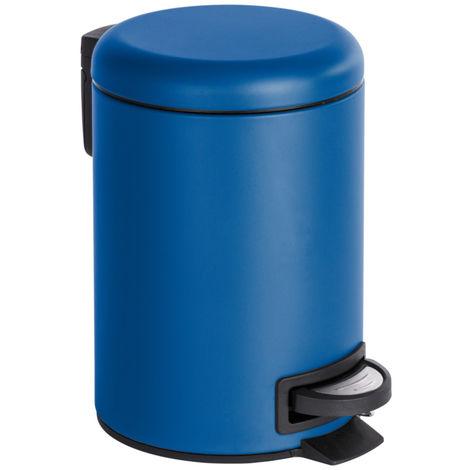 Poubelle cosmétique à pédale Leman bleu foncé WENKO