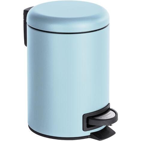 Poubelle cosmétique à pédale Leman bleu WENKO
