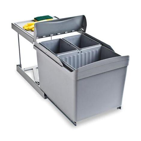 Poubelle d'extraction automatique (3 conteneurs)