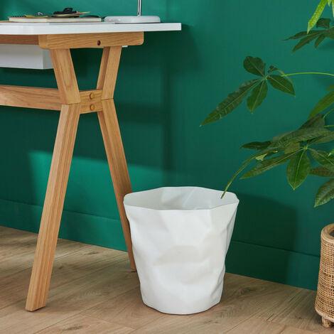 Poubelle de Bureau Design Blanche 16 litres HOOK - Blanc