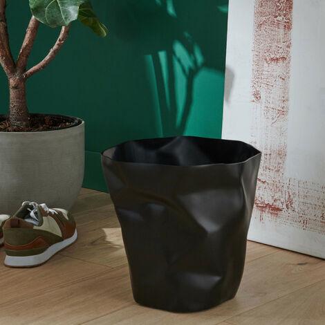 Poubelle de Bureau Design Noire 16 litres HOOK - Noir