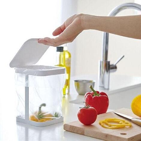 Poubelle de bureau japonaise peut creative petite mini-cuisine domestique fraiche table de salon flip poubelle blanche