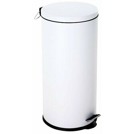 Poubelle de cuisine 30 litres à pédale blanche - SELEKTA