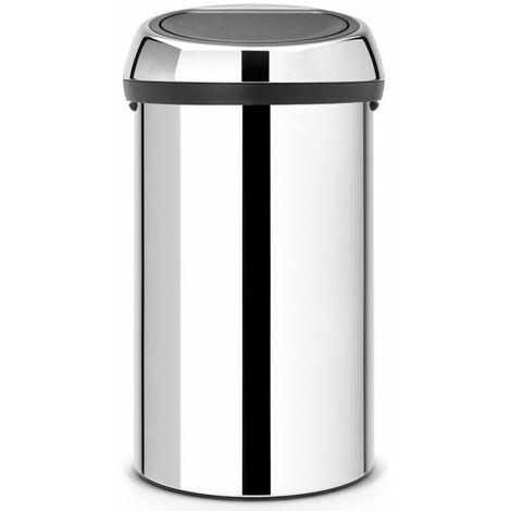 poubelle de cuisine 60l brillant steel - 402609 - brabantia