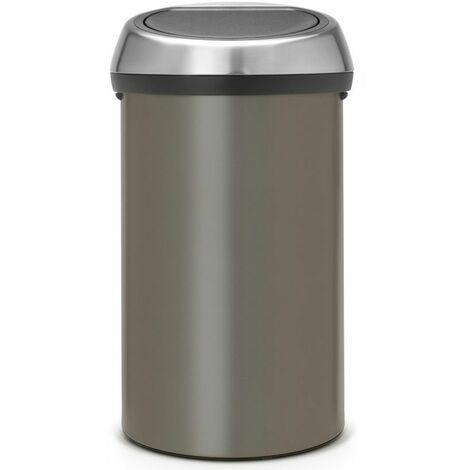 poubelle de cuisine 60l platinium - 402463 - brabantia