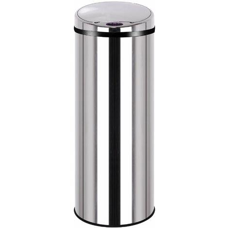 EKO Belle Deluxe Poubelle /à P/édale M/étal Inox 31,9 x 28,3 x 41,2 cm 12 litres