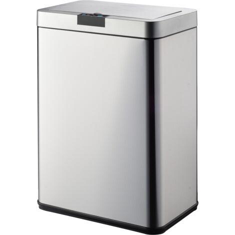 Poubelle de cuisine automatique DAYTONA inox 60L