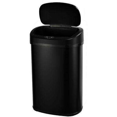 Poubelle de cuisine automatique MAJESTIC noir en inox 68L
