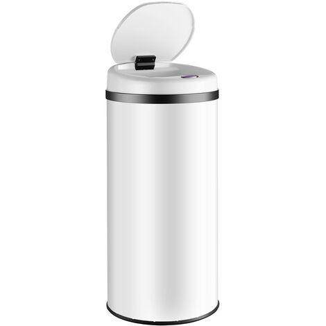 Poubelle de cuisine automatique ronde 30/40/56 litres avec support de sac Capteur de mouvement Recyclage déchets maison