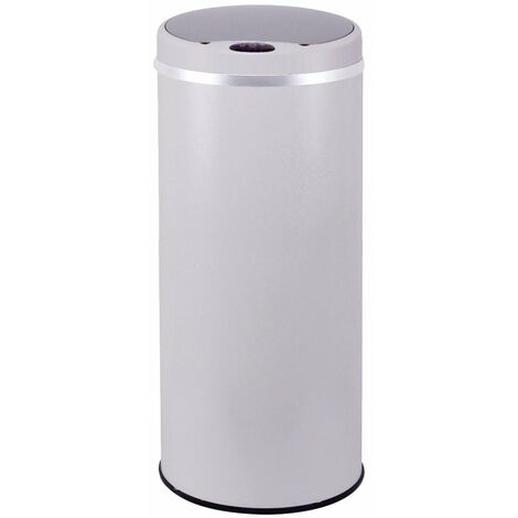 Poubelle de cuisine automatique SOHO blanc inox 42L