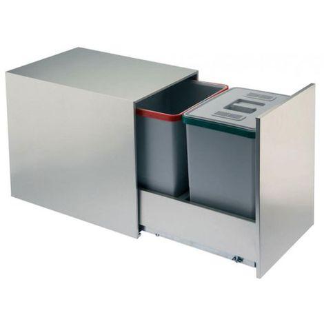 Poubelle de cuisine encastrable NICOL - 2x18 litres