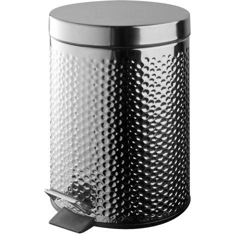 Poubelle de salle de bain DOTS 3 litres 170 x 230 x 250 mm / Couleur: Chromé / Référence: 98794CH