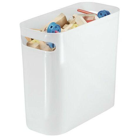 Poubelle de table en plastique blanc