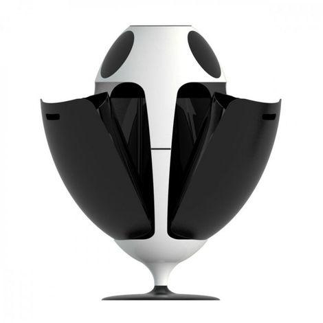 Poubelle de tri Ovetto Lacoque 84x45 SOLDI DESIGN - Noir - Intérieur - Rotation à 360°