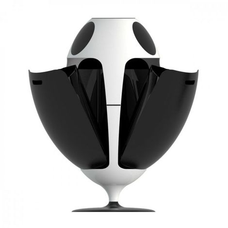 Poubelle de tri Ovetto Lacoque 84x45 SOLDI DESIGN - Rotation à 360°