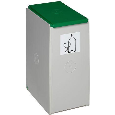 Poubelle de tri - poubelle seule - pour 60 l, largeur 360 mm, vert proche RAL 6001