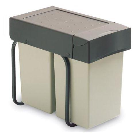 Poubelle d'extraction manuelle avec 1 ou 2 conteneurs 20l.