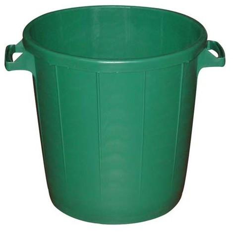 EDA - Poubelle d'extérieur sans couvercle - 30 L - vert