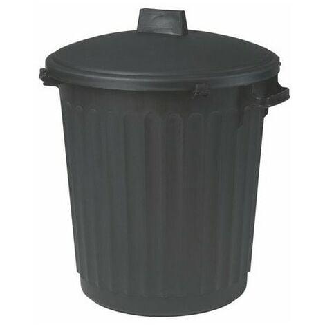 """main image of """"Poubelle d'immeuble noire 80 litres avec Couvercle - EDA"""""""
