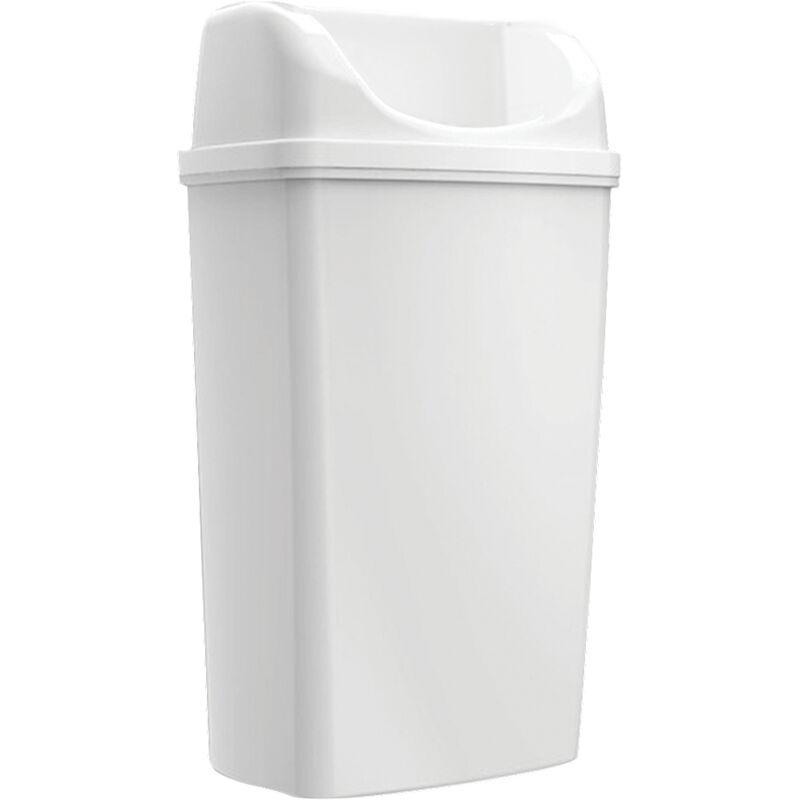 Poubelle Maxi à poser/à Suspendre Blanc 50L - Edge