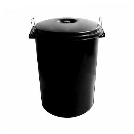 Poubelle en plastique communauté avec couvercle 100 litres