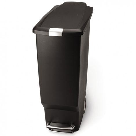 poubelle étroite à pédale 40l noir - cw1361 - simplehuman