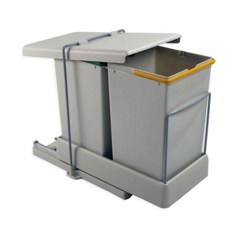 poubelle extractible automatique 2x14l.