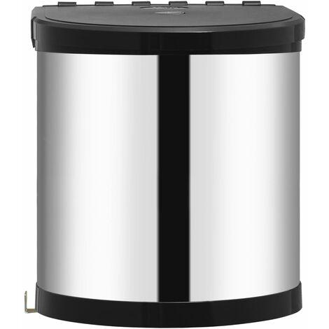 Poubelle intégrée de cuisine Acier inoxydable 12 L