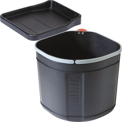 Poubelle monobac mini-Solo, fixation intérieur du meuble, largeur du meuble 400 mm, bac 17L