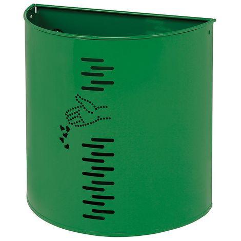 Poubelle murale | acier galvanisé à chaud peint époxy | Revêtement époxy | verdoyant | 20 litres | 395x195x388 | Miluna - Vert