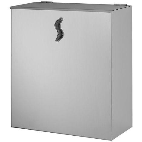Poubelle murale | acier inoxydable AISI 304 | Brillant | 10 litres | 250x130x300 | Brinox | 1 pièce | medial