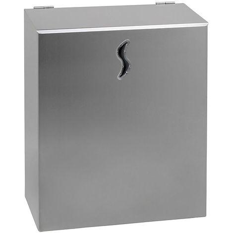 Poubelle murale | acier inoxydable AISI 304 | Brossé | 10 litres | 250x130x300 | Brinox | 1 pièce | medial
